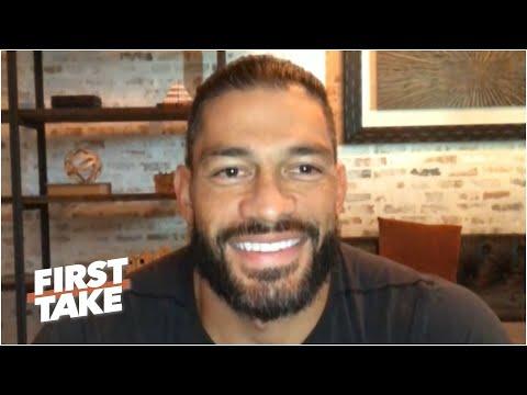 Roman Reigns says Aaron Donald should join WWE & trash-talks Braun Strowman | First Take