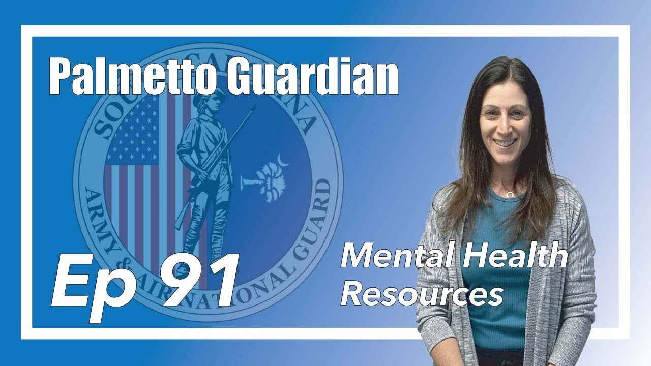 On this episode of the Palmetto Guardian we talk with Mrs. Lisa Mustard, South Carolina National Guard behavioral health office, about different mental health resources service members and their families can access. The Palmetto Guardian is hosted by Sgt. Chelsea Baker and Sgt. Tim Andrews with the South Carolina National   0:00 - Intro 0:20 - New studio set up  0:50 - Who is Lisa Mustard and what does she do? 1:40 - The stigma of mental health in the military  4:00 - What resources are out there for service members and their families 7:30 - What happens when you call the 1-800 number  9:14 - Hotline number 1-800-681-2558 10:40 -Military one source  13:00 - giveanhour.org 14:40 - The VA 15:15 - Veterans Center 16:15 - The Big Red Barn 19:00 - Practicing self awareness  22:55 - Other ways to process your thoughts  29:30 - Lisa Mustard's phone number 803-409-9965  Resources for service members and their families: SCNG Behavior Health Care hotline 1-800-681-2558 Lisa Mustard 803-409-9965 Military One Source The VA Veterans Center The Big Red Barn giveanhour.org  South Carolina National Guard https://www.scguard.ng.mil/ Youtube https://www.youtube.com/user/SCNationalGuard Facebook https://www.facebook.com/SCGuard/ Instagram https://www.instagram.com/official_scguard/ Twitter https://twitter.com/SCNationalGuard flickr https://www.flickr.com/photos/scguard/ DVIDS  https://www.dvidshub.net/unit/SCNG