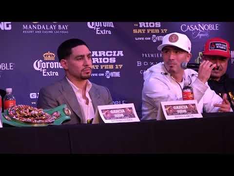 danny garcia & brandon Rios exchange f-u's EsNews Boxing