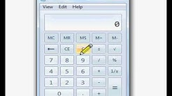 How to work out a percentage on a calculator
