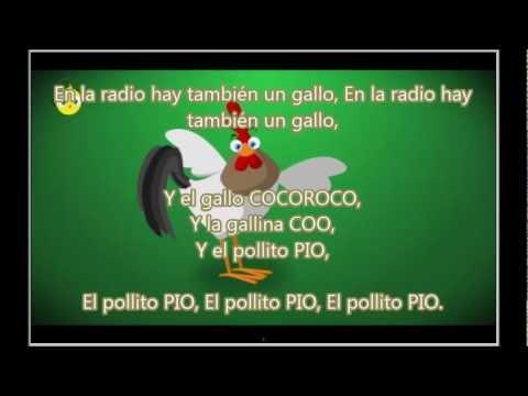 El Pollito Pio con Letra / Lyrics