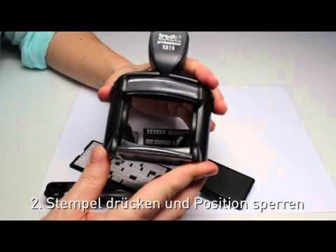 stempel zum selbersetzen professional typomatic mit setzplatte youtube. Black Bedroom Furniture Sets. Home Design Ideas