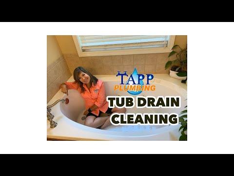 HOW TO CLEAN A TUB DRAIN