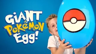 Pokemon Go GIANT Play-Doh Surprise Egg with a Pokemon Toys Unboxing by KID CITY