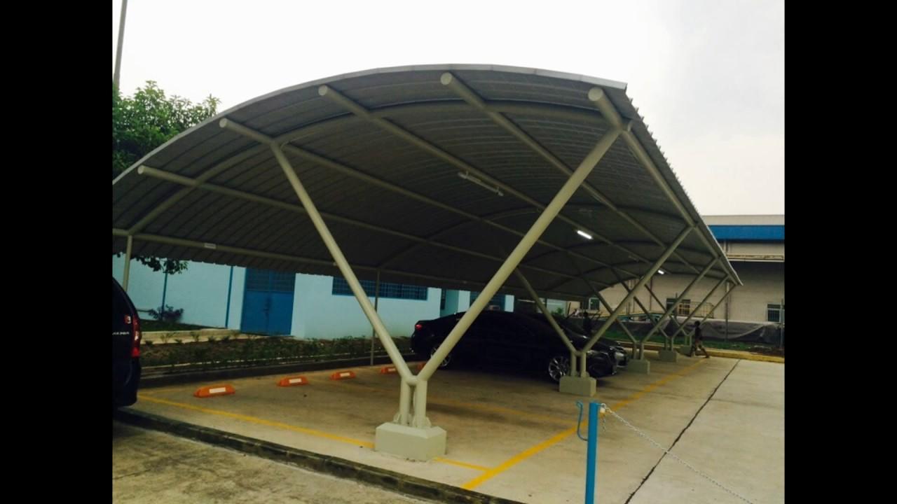 Atap Kanopi Lengkung Zincalum Tusa 0813 1200 4375 Youtube
