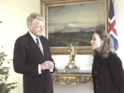President of Iceland Ólafur Ragnar Grímsson interviewed by P