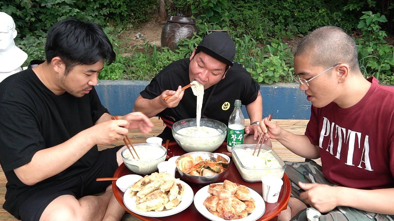 여름에는 뭐? 시원한 콩국수 한사바리 ; cold bean-soup noodles & Dumpling