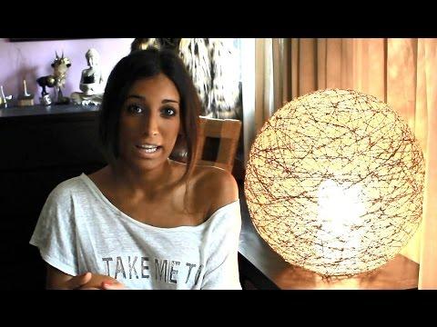 C mo hacer una l mpara con un globo y cuerda paso a paso - Como hacer lamparas ...