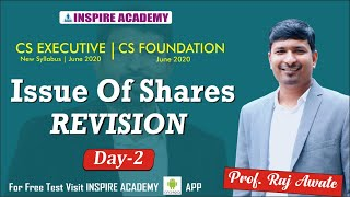 Issue of share  revision day 2 I CS foundation I executive I June 20