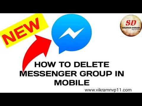 how to delete messenger group in mobile 2019-20 new☑️