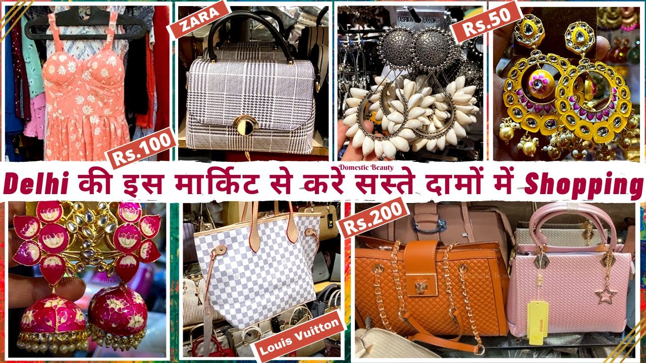 Lajpat Nagar Market Delhi   Cheapest Branded Clothes, Bags, Jewellery Collection   Domestic Beauty