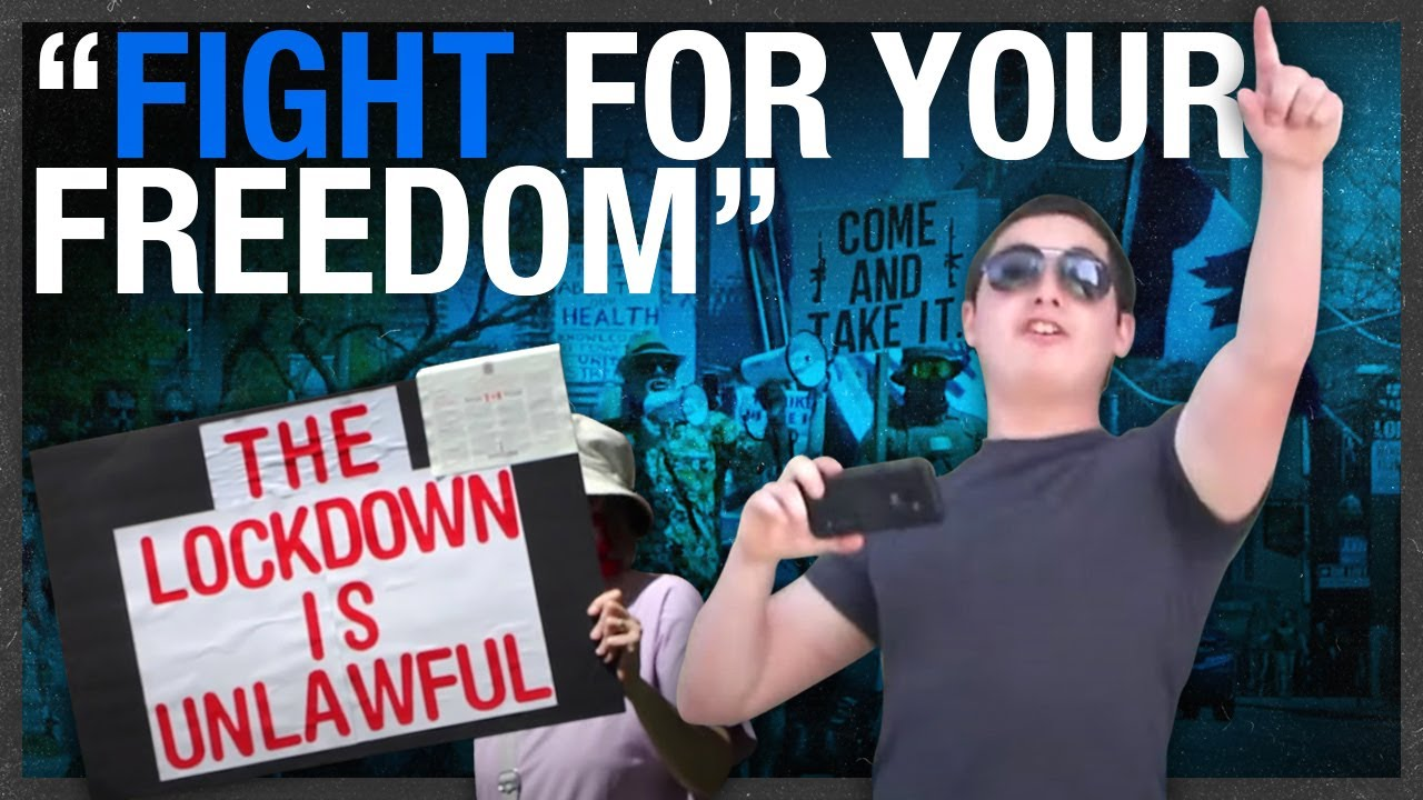 """""""Control and tyranny:"""" Toronto's anti-lockdown protesters warn against losing your rights"""