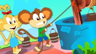 Jack And Jill | Monkey Rhymes | Kindergarten Songs And Videos by Kids Baby Club