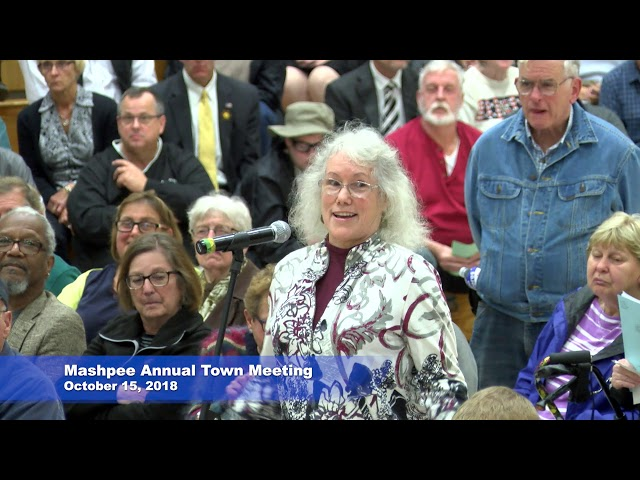 Mashpee Annual Town Meeting  Oct. 15, 2018
