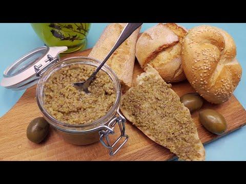 Aperitiv sau gustare in maxim 10 minute -  Pasta de masline verzi (intamplator e si de post 😀)!