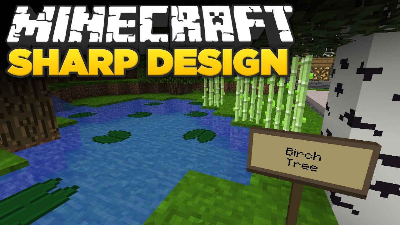 Minecraft Sharp Design Texture Pack Spotlight YouTube - Minecraft texture pack namen andern