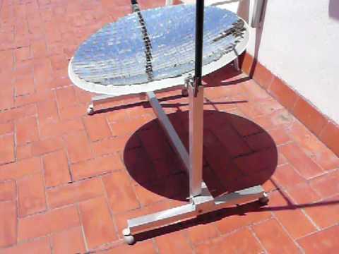 Cocina solar casera concentrador solar con espejos solar for Espejo 20 aumentos