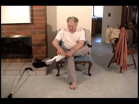 stroke survivor exercise' getting dressed r