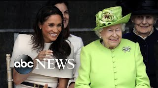 Meghan Markle Joins Queen Elizabeth On Royal Train For Their First Solo Trip