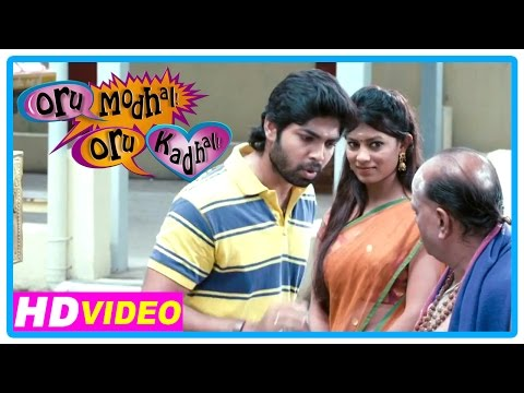 Oru Modhal Oru Kadhal Movie | Scenes | Vivek Meets His Girlfriend At The Temple | Pyramid Natarajan