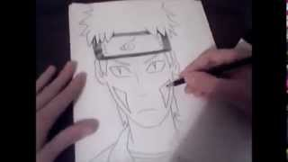 How to draw Kiba Inuzuka