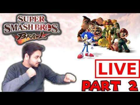 Let's Procrastinate With Super Smash Bros Brawl PART 2 - LIVE W/ Cybrid101