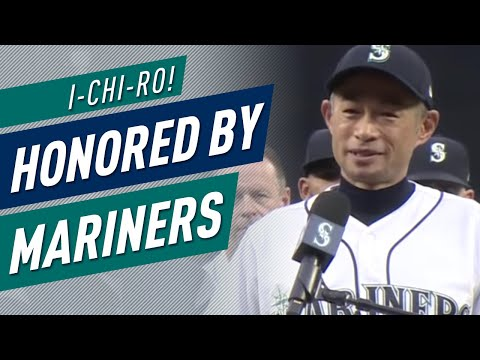 ichiro-honored-by-mariners,-gives-speech-to-fans