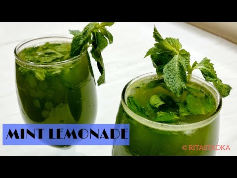 Mint lemonade | नीबू पुदीना शरबत | Mint lemon juice recipe | Summer drink Pudina Sharbat