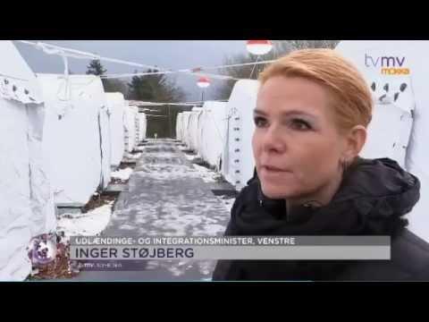 Inger Støjberg besøger flygtningelejren i Thisted