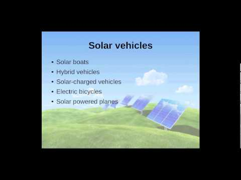 Which solar energy products can I use?