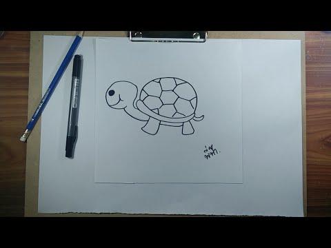 สอนวาดรูป | สอนวาดรูปการ์ตูนน่ารักๆ ง่ายๆ By พี่ฟ้า #รูปเต่า