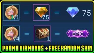 Promo Diamonds Free Random Skin Explain Is Here In Mlbb Youtube