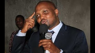 Yes, Moses Kuria is aiming the sun to land at the moon, he isn't your day one politician