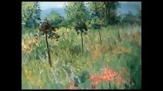 Урок живописи Игоря Сахарова: Цветущие травы, деревья