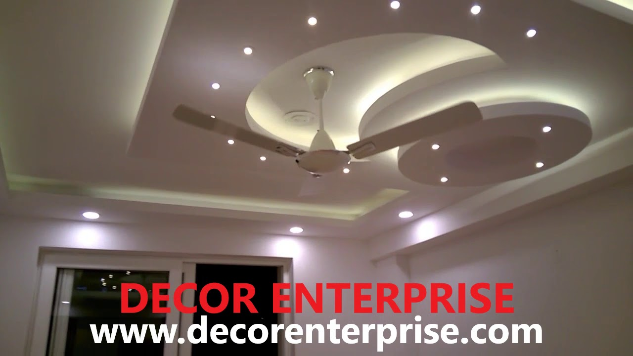 Gypsum Board False Ceiling Design S Decor Enterprise Youtube