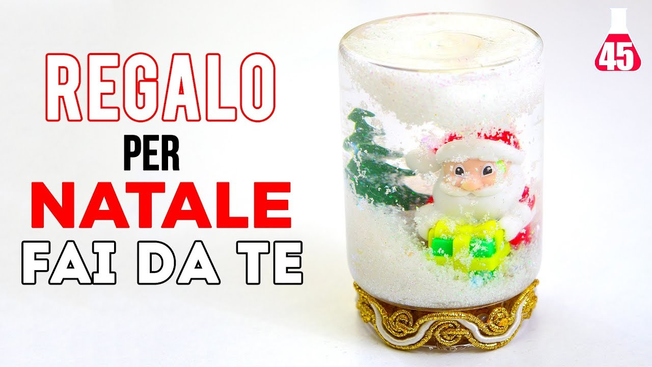 Preferenza Idea Regalo per Natale fai da te - Palla di neve Natalizia - YouTube PN19