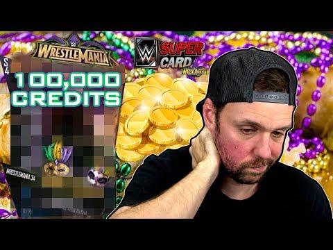WORST PACK LUCK EVER! - 100K Credit Male Titan Pack Opening - WWE SuperCard WrestleMania 34 Season 4
