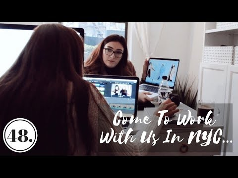 WHAT WE ACTUALLY DO EVERYDAY | Come to Work With Me In NYC - Vlog 48
