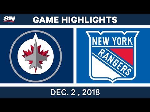 NHL Highlights | Jets vs. Rangers - Dec 2, 2018