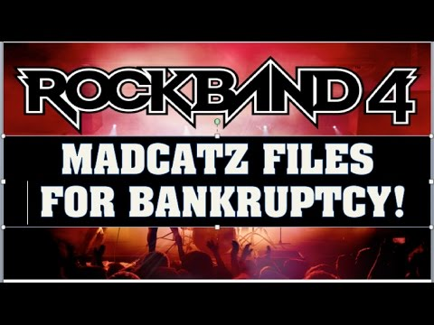 Rock Band 4 News: Madcatz Files For Bankruptcy!