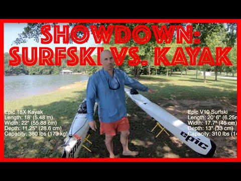 Endurance Paddling SHOWDOWN:  Surfski Vs. Kayak