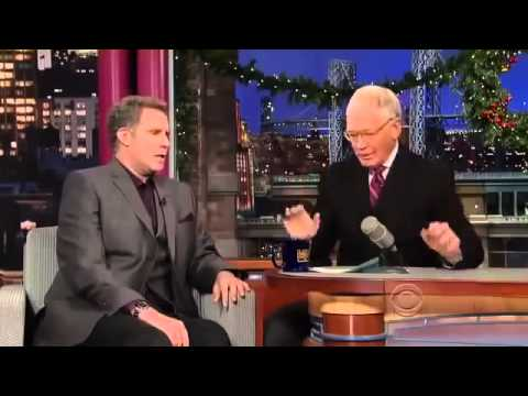 Will Ferrell on David Letterman Full Interview