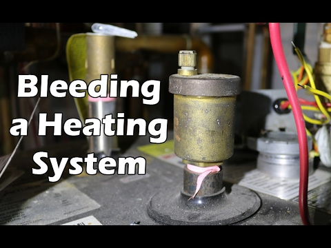 How to Bleed a Hot Water Heating System - Boiler, Hydronic Heating System