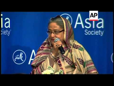 Bangladesh PM addresses Asia Society