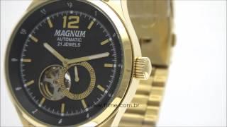 67a92d4eb4c Relógio Magnum Automático 21 Jewels MA33906U ...