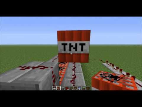 minecraft 1 4 7 tuto comment cr e 7 canon a tnt diff rents youtube. Black Bedroom Furniture Sets. Home Design Ideas