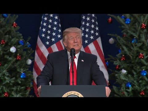 President Donald Trump delivers remarks on tax reform in St. Louis