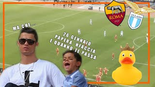 CR7 E RONALDO JUNIOR COMMENTANO IL DERBY ALLO STADIO | ROMA-LAZIO 1-1 |