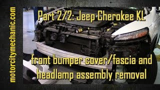Part 2/2: Jeep Cherokee KL front bumper/fascia and headlamp assembly removal