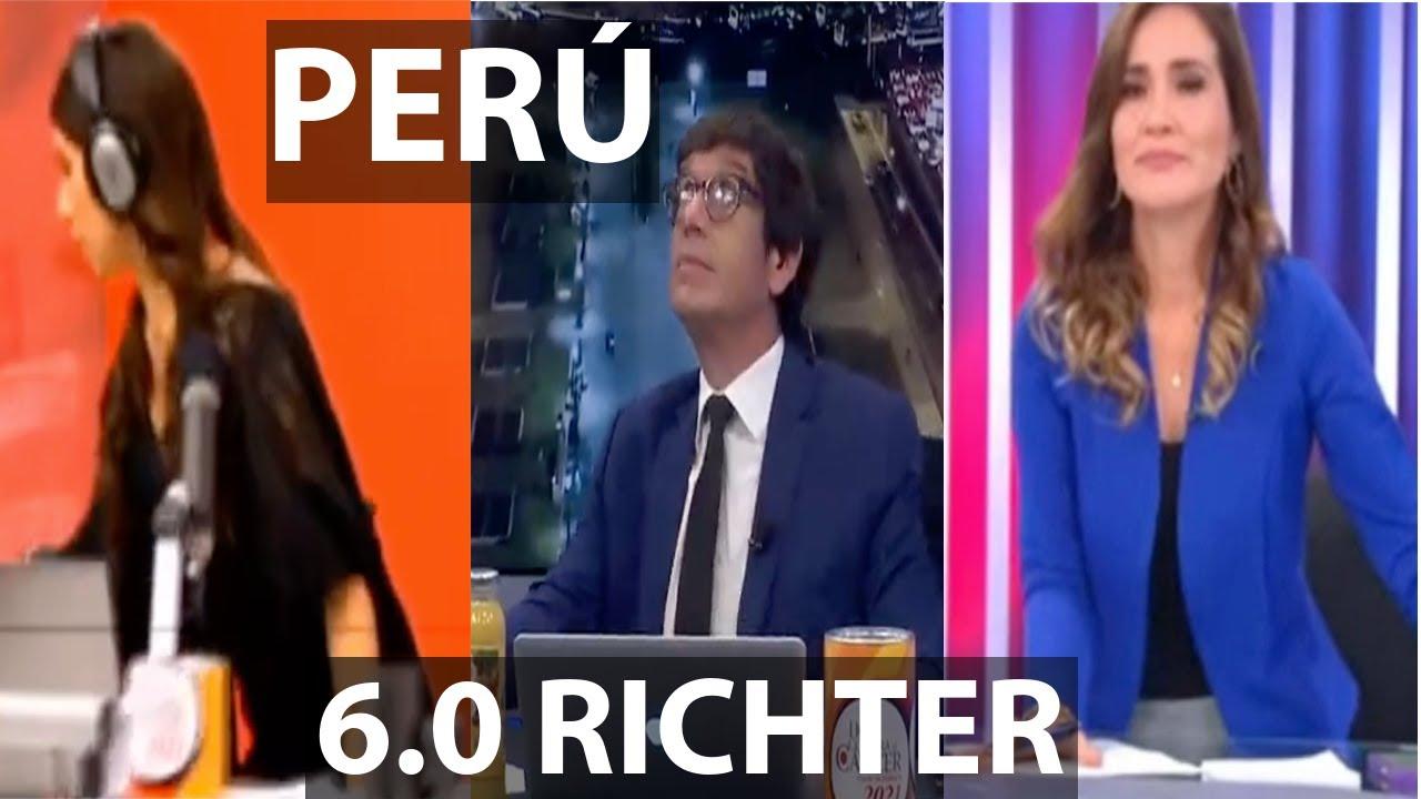 SISMO 6.0 GRADOS EN VIVO EN LA TV PERUANA